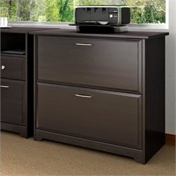 Bush Cabot 2 Drawer Lateral File Cabinet in Espresso Oak
