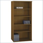 Bush Series C Open Double Bookcase in Warm Oak