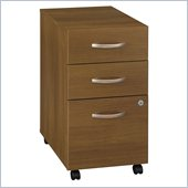 Bush Series C Mobile 3 Drawer File Pedestal in Warm Oak
