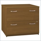 Bush Series C 36W 2-Drawer Lateral File in Warm Oak