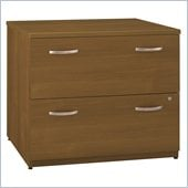 Bush Series C 36W 2-Drawer Lateral File in Warm Oak (Assembled)