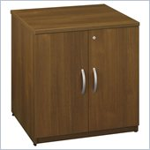 Bush Series C 30W Storage Cabinet in Warm Oak