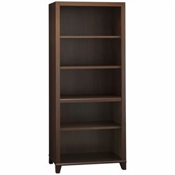 Bush Achieve 5-Shelf Bookcase with Adjustable Shelves in Sweet Cherry