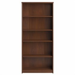 Bush Envoy 5-Shelf Bookcase in Hansen Cherry