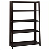 Bush Canted 4 Shelf Bookcase in Rich Macchiata Coffee Finish
