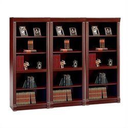 Bush Birmingham 5 Shelf Wall Bookcase in Harvest Cherry