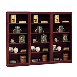 Bush Saratoga 5 Shelf Wall Bookcase in Harvest Cherry