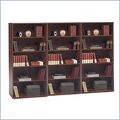 Bush Series C 5 Shelf Wall Bookcase in Hansen Cherry