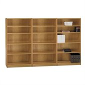 Bush Universal 5 Shelf Wall Bookcase in Snow Maple 