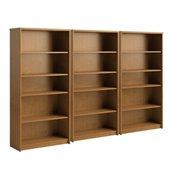 Bush Envoy 5 Shelf Wall Bookcase in Natural Cherry
