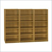 Bush Quantum 5 Shelf Wall Bookcase in Modern Cherry