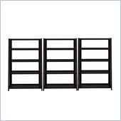 Bush Canted 4-Shelf Wall Bookcase in Macchiata