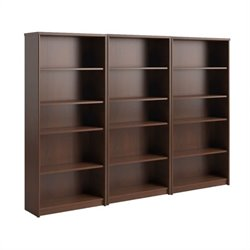 Bush Envoy 5 Shelf Wall Bookcase in Hansen Cherry