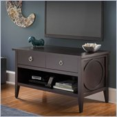Bush Olive Flat Panel TV Stand in Dark Macchiata Finish