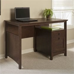 Bush Buena Vista Computer Desk with File Drawer in Madison Cherry