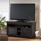 Bush Stanford Flat Panel TV Stand in Antique Black Finish