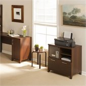 Bush Achieve Lateral File/Printer Stand in Sweet Cherry Finish