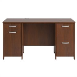 Bush Envoy Double Pedestal Desk in Hansen Cherry Finish