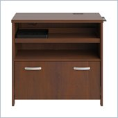 Bush Envoy 32 Inch Wide Tech Lateral File in Hansen Cherry Finish