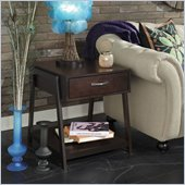 Bush Canted Style End Table in Rich Macchiata