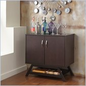 Bush Canted Style Modern Console/Storage in Macchiata Finish