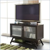 Bush Canted Style TV Stand For Flat Panel TVs in Macchiata Coffee