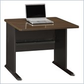 Bush Series A 36 Desk in Sienna Walnut/Bronze