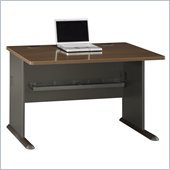 Bush Series A 48 Desk in Sienna Walnut/Bronze