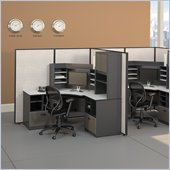 Bush Series A 42W Corner Desk with Overhead in Slate