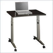 Bush Series C Adjustable Height Mobile Table in Mocha Cherry