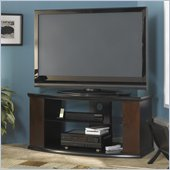 Bush Pimlico TV Stand with Storage in Espresso/Satin Blac