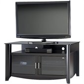 Bush Myspace Aero TV Stand in Classic Black Finish