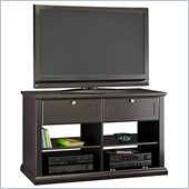 Bush Pemberley Sofa Height TV Stand in Mink Finish