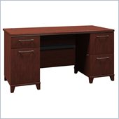 Bush Enterprise 60W Double Ped Desk in Harvest Cherry Finish
