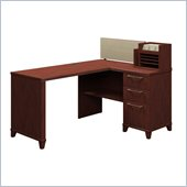 Bush Enterprise 60W x 47D Corner Desk in Harvest Cherry Finish