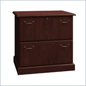 Bush Syndicate 30W 2-Drawer Lateral File in Harvest Cherry