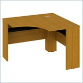 Bush Quantum 42W x 42D Universal Corner Desk in Modern Cherry