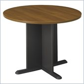 Bush Conference Tables 42 Round Conference Table in Oak and Gray