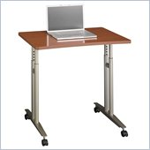 Bush Series C Adjustable Height Mobile Table in Auburn Maple Finish