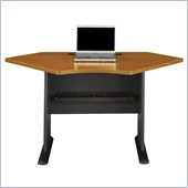 Bush Series A 42W Corner Desk in Natural Cherry Finish