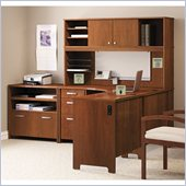 Bush Envoy L-Shaped Office Suite in Hansen Cherry