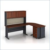 Bush Series A 5-Piece L-Shape Computer Desk in Hansen Cherry