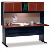 Bush Series A 72 Wood Credenza Desk with Hutch in Hansen Cherry