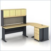 Bush Series A 5-Piece L-Shape Computer Desk in Beech
