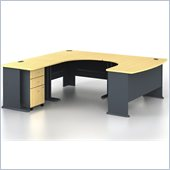 Bush Series A 4-Piece U-Shape Left-Hand Computer Desk in Beech