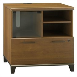 Bush Achieve 1 Drawer Lateral File Cabinet in Warm Oak