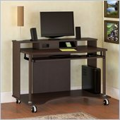 Bush Mobiletech Mobile Computer Cart in Mocha Cherry