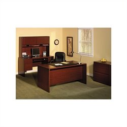 Bush Northfield 4-Piece Executive Computer Desk Set in Harvest Cherry