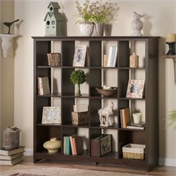 Bush Buena Vista 16 Cube Storage Bookcase in Madison Cherry