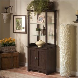 Bush Buena Vista 2 Door Tall Library Storage Unit in Madison Cherry